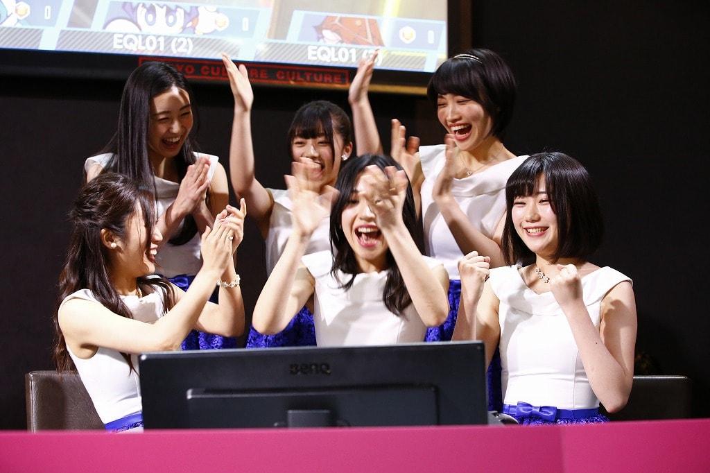 第1試合はteamSMQ VS 東宝ガールズ